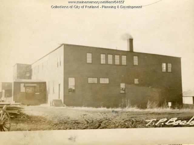 Factory, Morrill Street, Portland, 1924