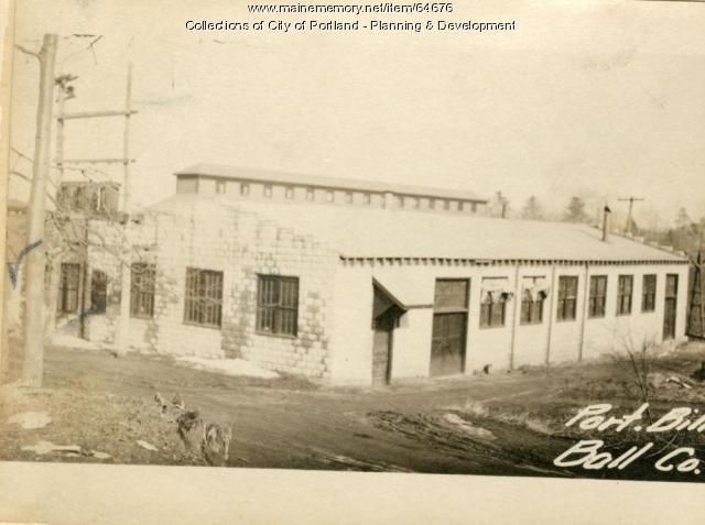 Pool Hall, Morrills Corner, Portland, 1924