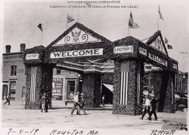 World War Victory gate, Houlton, 1919