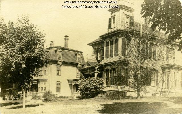 Depot Street, Strong, ca. 1920