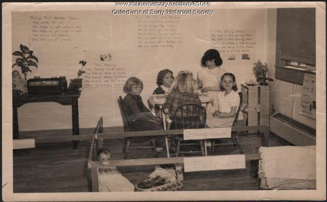 Classroom, Surry, ca. 1950