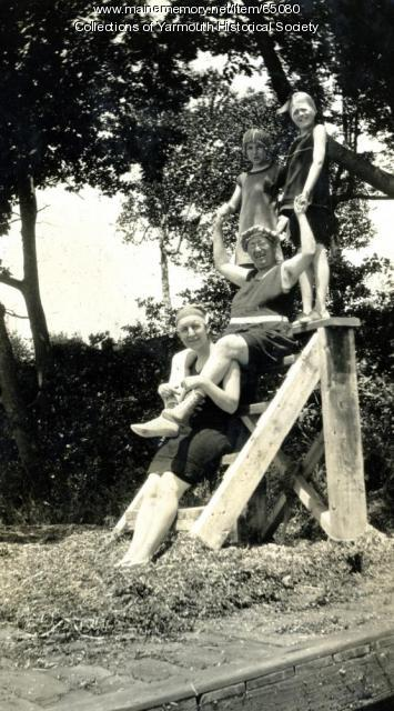 Connie Duran and others, Cousins Island, ca. 1926