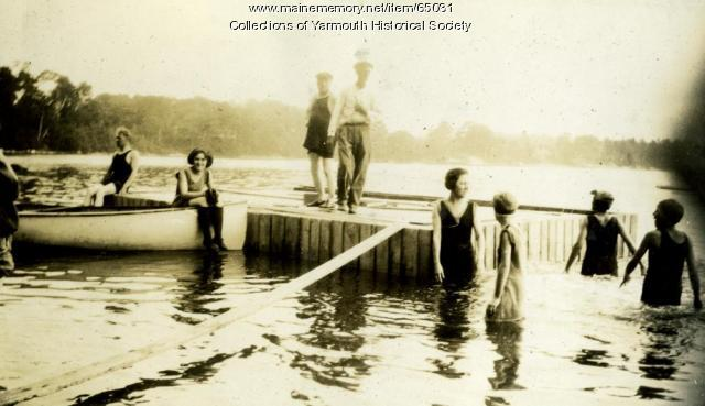 Swimming, Cousins Island, ca. 1925