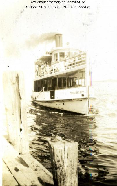 Ferry 'Tourist,' Cousins Island, ca. 1924