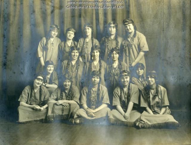 Sobeyaka Campfire, Farmington State Normal School, ca. 1917