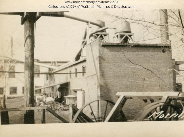 Engine Room, Morrill Street (rear), Portland, 1924