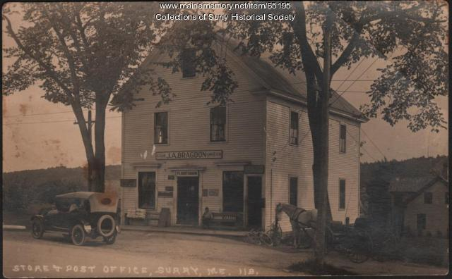 Store and Post Office, Surry, 1924