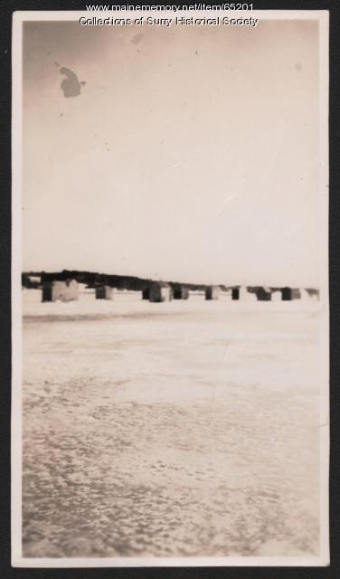 Smelt tents, Surry, ca. 1920