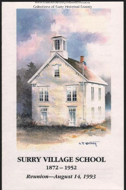 Reunion program cover, Surry Village School, 1993