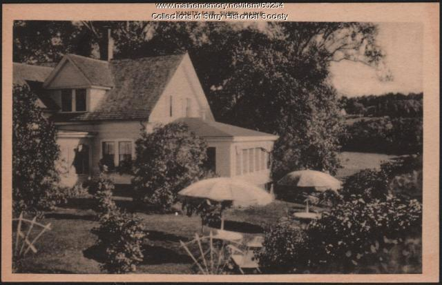 Vanity Fair Tea Room and Guest House back view, Surry, ca. 1930