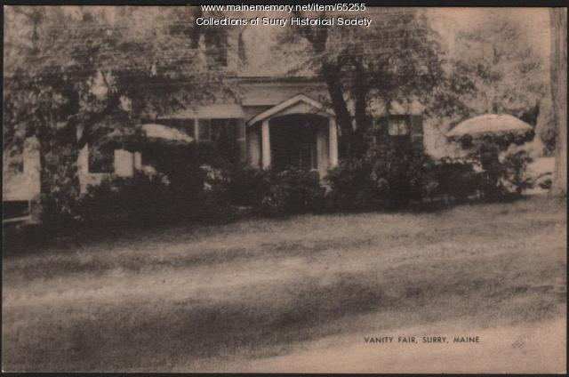 Vanity Fair Tea Room and Guest House front view, Surry, ca. 1930