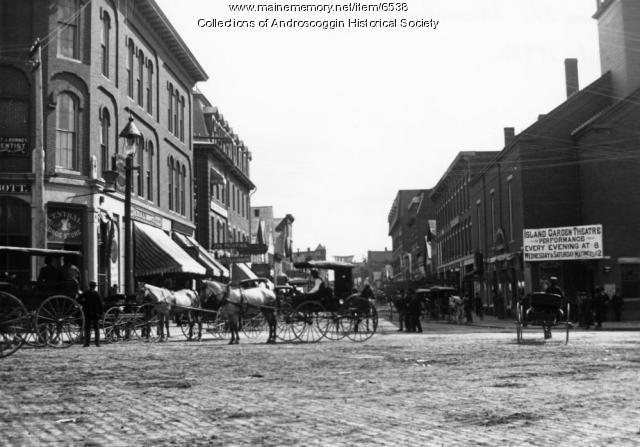Lisbon Street, Lewiston, circa 1890