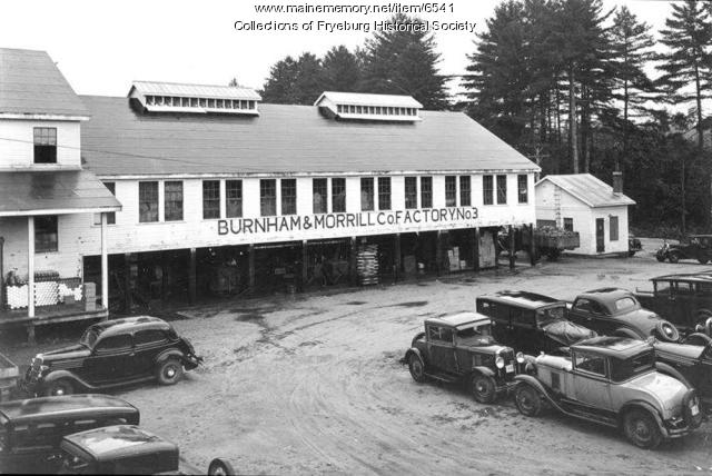 Burnham & Morrill corn plant, Fryeburg, 1938