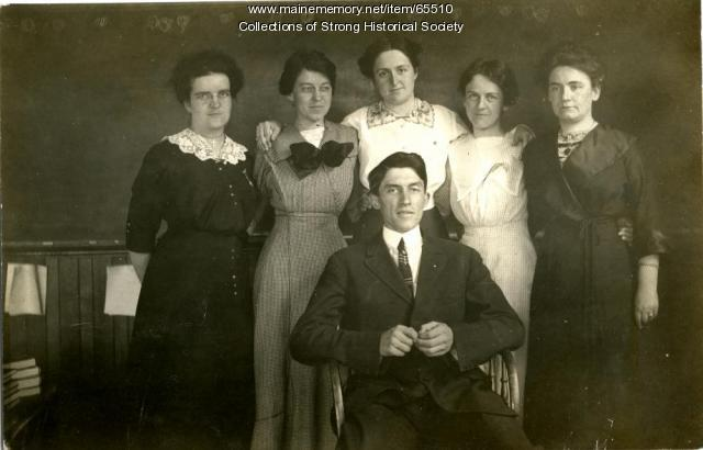 Strong School faculty, Strong, ca. 1912
