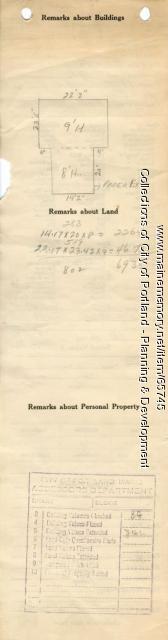 Assessor's Record, Barn, Newell Avenue, Portland, 1924