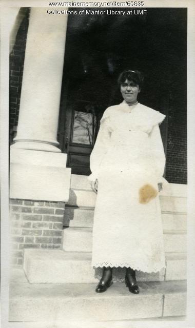 Farmington State Normal School student, Arbor Day, 1917