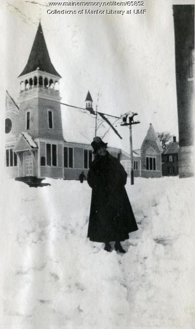 Nina Palmer, Farmington State Normal School, ca. 1917