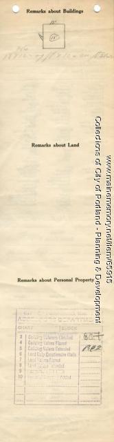 Assessor's Record, 13-19 Ninth Street, Portland, 1924