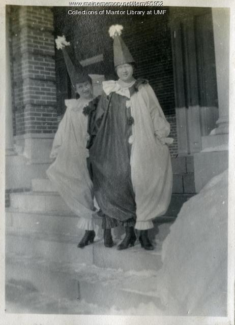 Christian Youth Association masquerade, Farmington State Normal School, ca. 1917