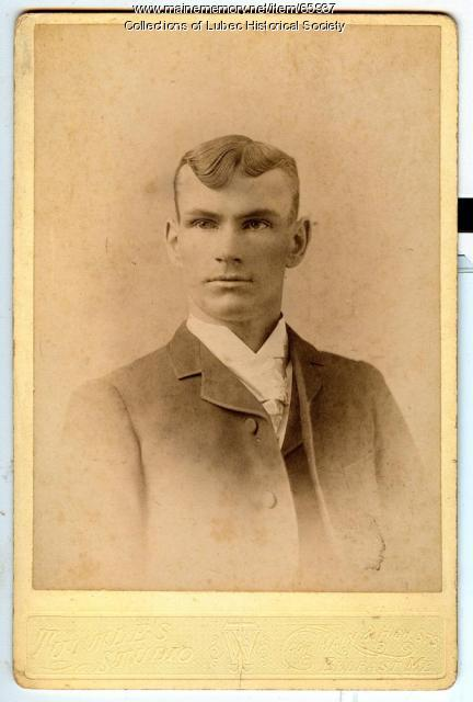 Robert M. Mahlman, Lubec, 1890