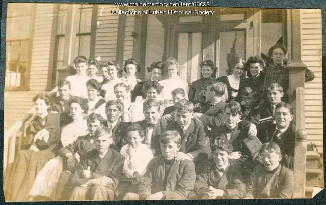 High school students and faculty, Lubec, ca. 1909