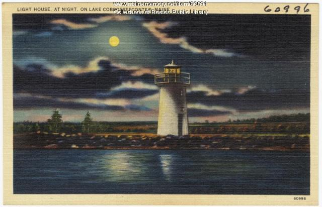 DUPLICATE Lighthouse, Lake Cobbosseecontee, ca. 1935