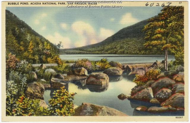 Bubble Pond, Acadia National Park, Bar Harbor, ca. 1935