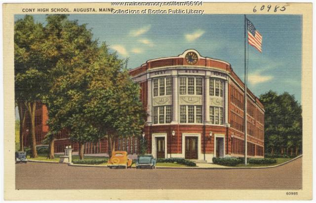 Cony High School, Augusta, ca. 1935