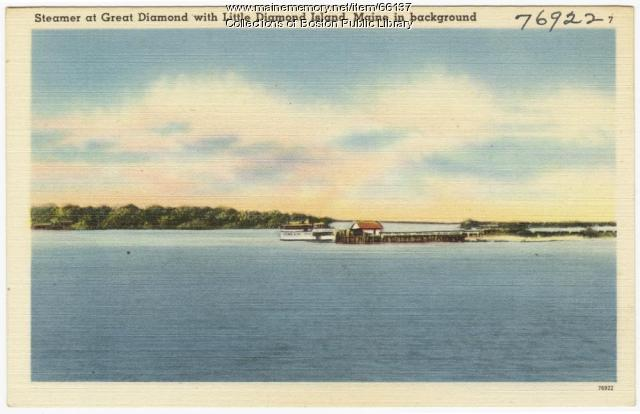 Steamer at Great Diamond Island, ca. 1938