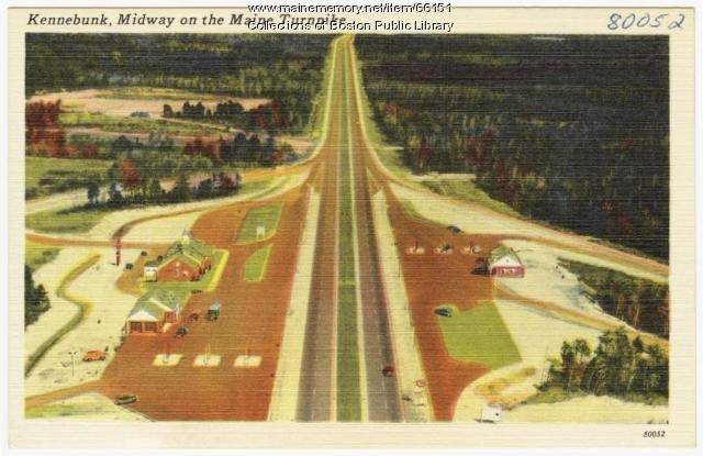 Maine Turnpike, Kennebunk, ca. 1950