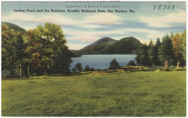 Jordan Pond and the Bubbles, ca. 1935