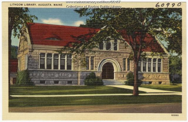 Lithgow Library, Augusta, ca. 1935