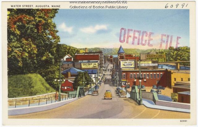 Water Street, Augusta, ca. 1938