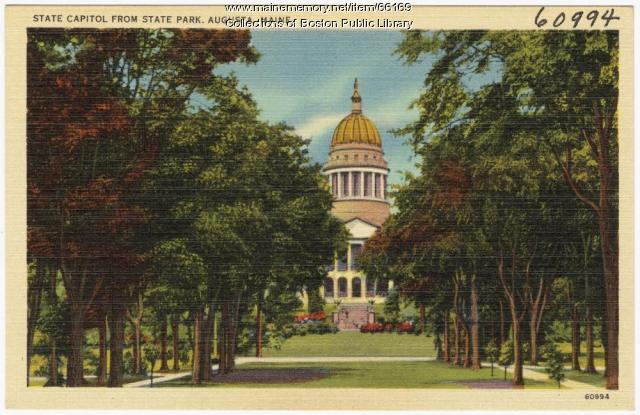 State Capitol from State Park, Augusta, ca. 1938