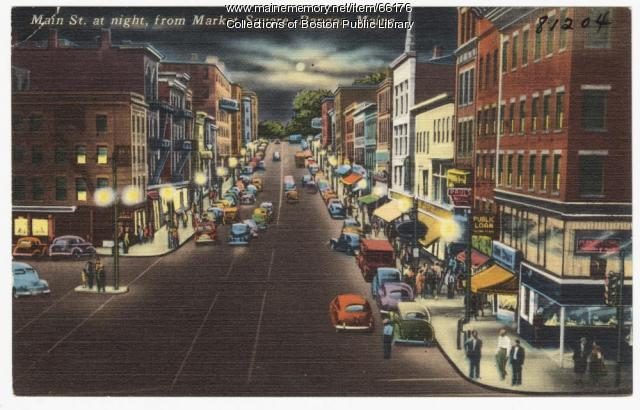 Main St. from Market Square, Bangor, ca. 1938