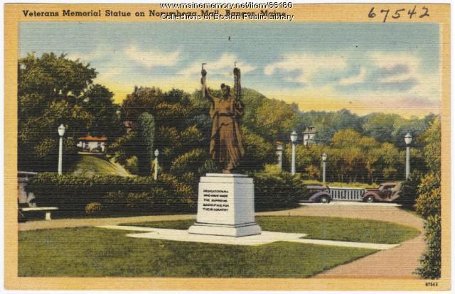 Veterans Memorial Statue, Bangor, ca. 1935