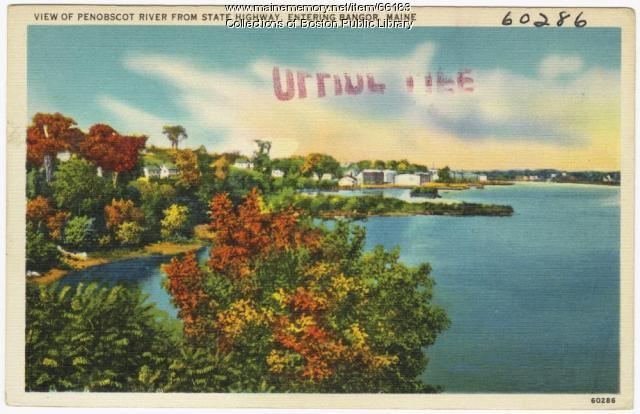 View of Penobscot River near Bangor, ca. 1938