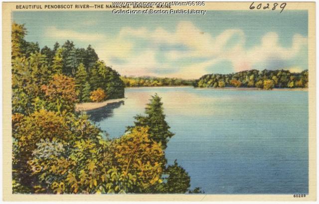 Penobscot River, The Narrows, Bangor, ca. 1938