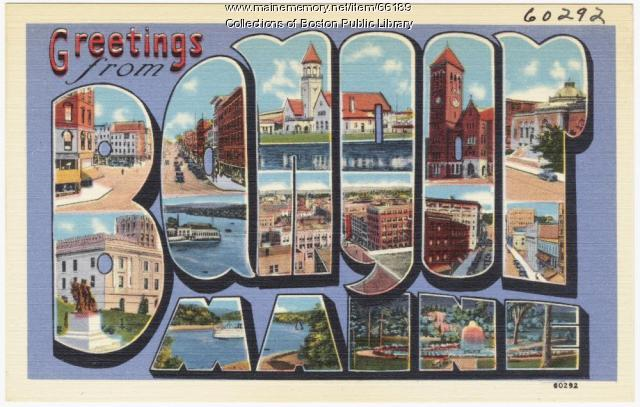 Greetings from Bangor, ca. 1938
