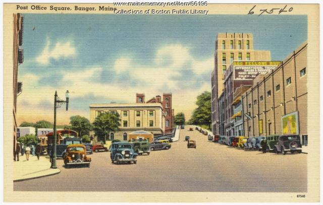 Post Office Square, Bangor, ca. 1938