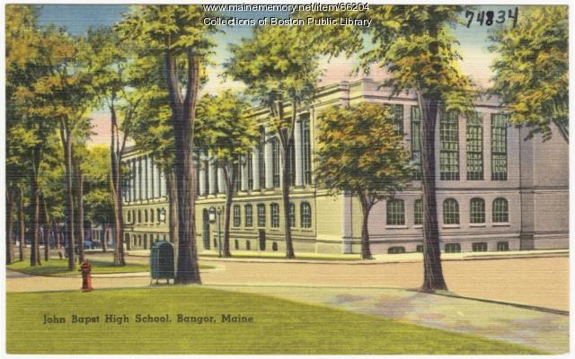 John Bapst High School, Bangor, ca. 1938