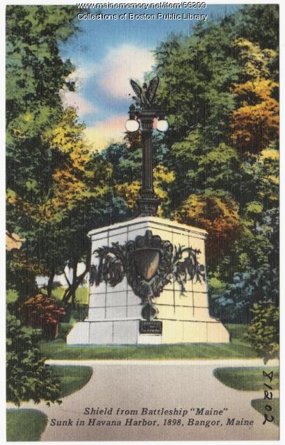 "Shield from Battleship ""Maine"" Bangor, ca. 1935"