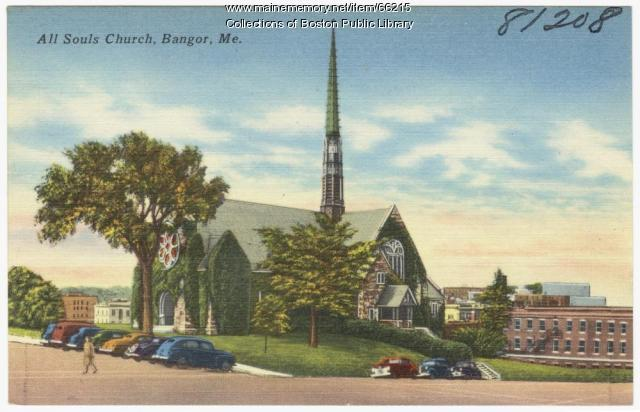 All Souls Church, Bangor, ca. 1935