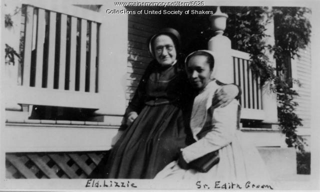 Eldress Elizabeth M. Noyes and Sister Edith Green, New Hampshire