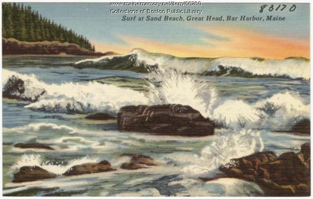 Sand Beach Bar Harbor Ca 1938