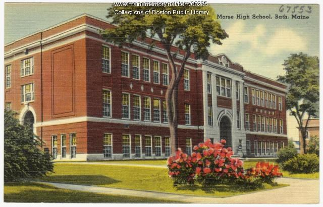 Morse High School, Bath, ca. 1935