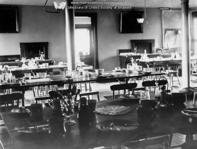 Dwelling House dining room, Sabbathday Lake Shaker Village, ca. 1905