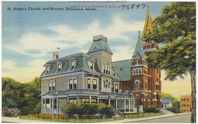 St. Andres Church, Biddeford, ca. 1935