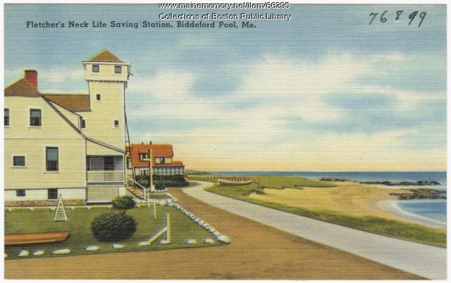 Fletcher's Neck Life Saving Station, Biddeford, ca. 1935