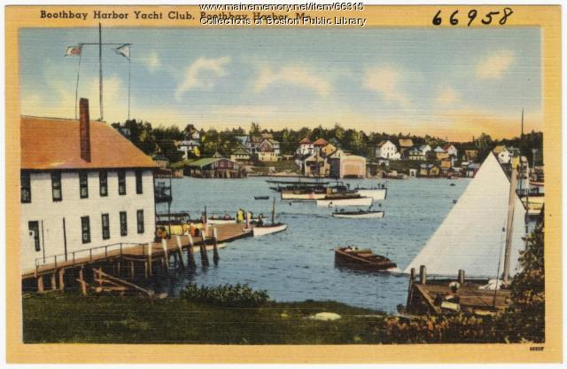 Boothbay Harbor Yacht Club, ca. 1935